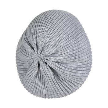 Cute Boho Cable Ribbed Knit Slouch Beret Cap- Chic Slouchy Beanie Winter Hat