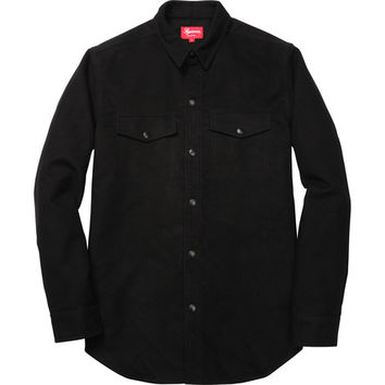 Supreme: Moleskin Work Shirt - Black