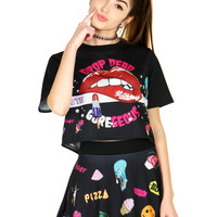 RED LIP TEE - One