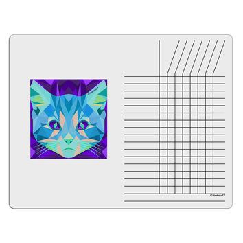 Geometric Kitty Inverted Chore List Grid Dry Erase Board