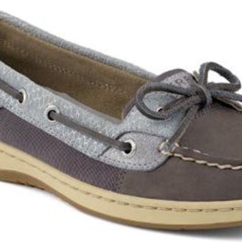 Sperry Top-Sider Angelfish Fishscale Slip-On Boat Shoe Graphite/Silver, Size 6.5M  Women's Shoes