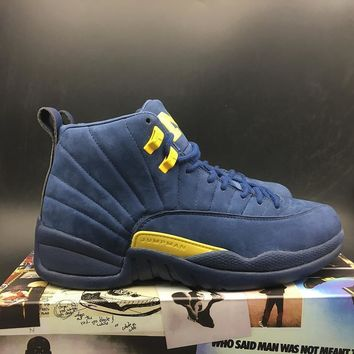 Air Jordan 12 Michiganretro Aj12 Sneakers