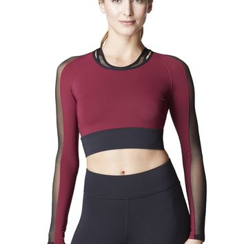Michi Garnet Top  | Elegant Activewear Top