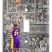 kobe bryant los angeles lakers 10v light switch cover  number 2