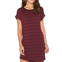 Knot Sisters Stone Dress in Black & Cranberry Stripe