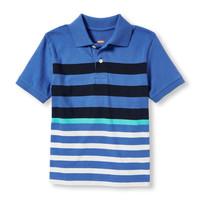 Boys Short Sleeve Striped Polo | The Children's Place