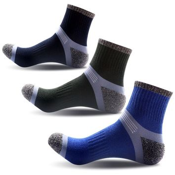 3 Pairs Men Compression Socks Elasticity Anti-fatigue Breathable High Quality Durable Socks Autumn Winter Warm Comfortable Meias