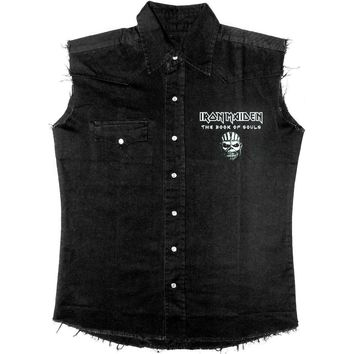 Iron Maiden Men's  The Book Of Souls Work Shirt Black