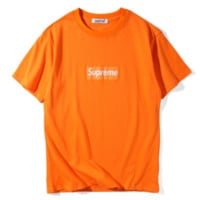 Supreme Fashion embroidery pullover T-shirt top blouse Tee