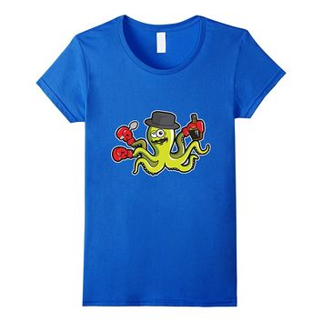 Drunk Octopus Wants to Fight Cute T-Shirt