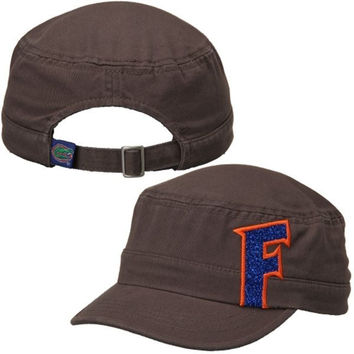 NCAA Florida Gators Women's Top of the World Charcoal Party Girl Cadet Adjustable Hat