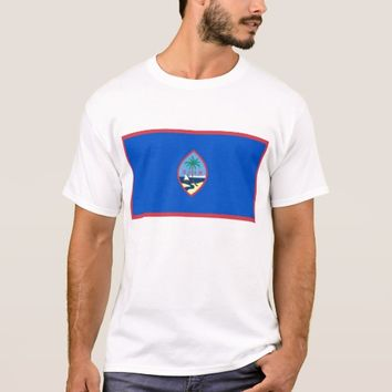 T Shirt with Flag of Guam - USA