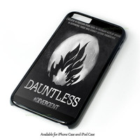 Divergent Dauntless The Brave Logo Design for iPhone 4 4S 5 5S 5C 6 6 Plus, and iPod Touch 4 5 Case