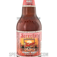 Sprecher Fire-Brewed Ravin' Red Cranberry-Cherry Gourmet Soda 16oz Glass Bottle