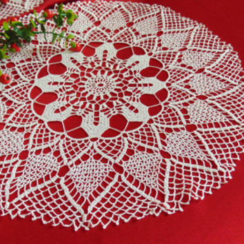 Lace Doily Crochet white Cotton Doily  Round Easter Decoration Elegant Napkin Table Decoration Home Decor Handmade Tablecloth