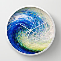 Wave to Van Gogh Wall Clock by Fringeman Abstracts