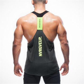 2016-2017 fashion high quality brand clothing men's vest stringer bodybuilding fitness man tank top clothes