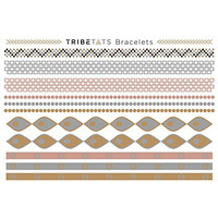 TribeTats Bracelets Flash Tattoos | 1 Sheet of Metallic Tattoos (11 Total Temporary Tatoos Included)