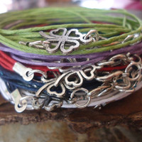 CLOVER wrap bracelet with sweet lucky charms
