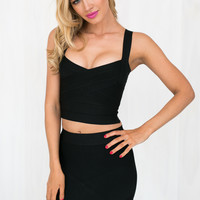 Stolen Hearts Bandage Top in Black | BLACKSWALLOW Fashion Online Shopping - Blackswallow Boutique