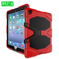 NEW! For Apple iPad Pro 9.7 Case Cover Durable 3 Layers Silicone+PC Hybrid Rugged Stand Shockproof Water Repellent Cover 12Color