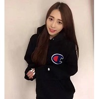 Champion Women Fashion Hoodie Pullover Top Sweater