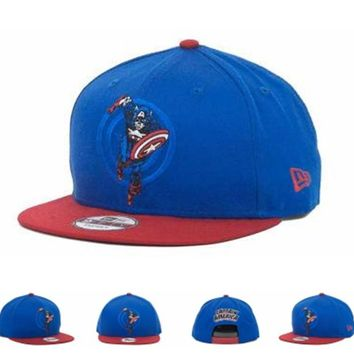 Marvel Captain America Action Arch Snaps 9fifty Cap Cap Snapback Hat - Ready Stock