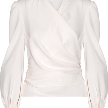 Co - Crepe wrap blouse