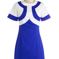 ModCloth Vintage Inspired Mid-length Short Sleeves Sheath Instant Obsession Dress
