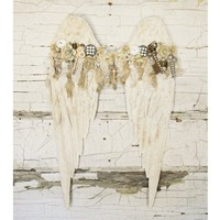 Shabby Cottage Angel Wings Wall Decor - Colorful Cast and Crew