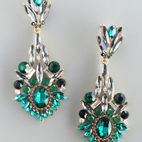 Ezri Emerald Statement Earrings