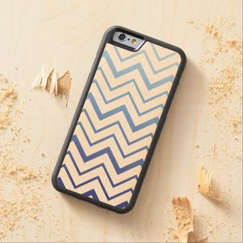 Chevrons, Blue Ombre on Wood Background - iPhone 6   Zazzle.com