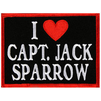 Pirates Of The Caribbean - I Heart Cpt. Jack Patch