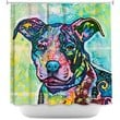 DiaNoche Designs Shower Curtains by Dean Russo Entrancing Dog Stylish, Decorative, Unique, Cool, Fun, Funky Bathroom
