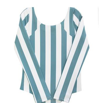 MAYLANA KIDS Mimi Ocean's Stripes One Piece