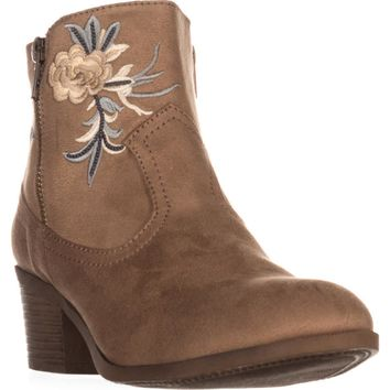 Rock & Candy Loraina Western Ankle Boots, Sand, 7 US