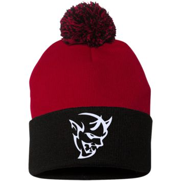 DODGE demon 2 SP15 Sportsman Pom Pom Knit Cap