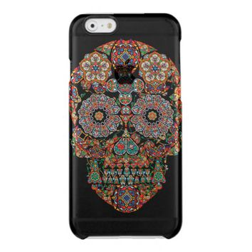 Colorful Sugar Skull Clear iPhone 6/6S Case
