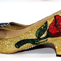 Beauty and the Beast 1 inch heels