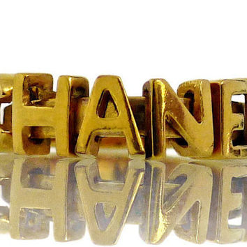 Vintage CHANEL Movable Letters Ring