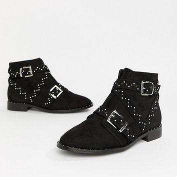 ASOS DESIGN Adrift Studded Ankle Boots at asos.com