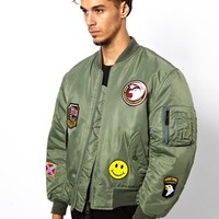 Reclaimed Vintage MA1 Jacket with Patches
