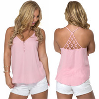 Long Distance Top In Pink