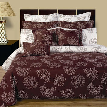 12PC Cloverdale Reversible Combed cotton bed in a bag