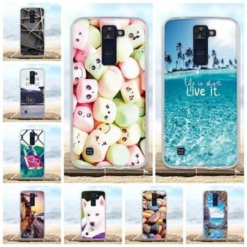For LG K8 Lte Case K350 K350E K350N Back Cover Soft Silicone TPU Fundas Coque For LG K8 Phone Cases 3D Cute Animal Bags Shell