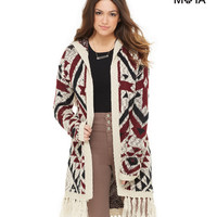 Aeropostale Womens Ganado Hooded Cardigan - Island Flower,