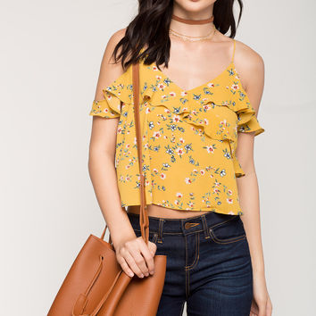 Floral Love Cold Shoulder Top