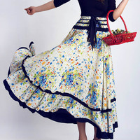 Multicolored maxi dress skirt (0051)
