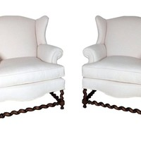 French Wingbacks, Pair