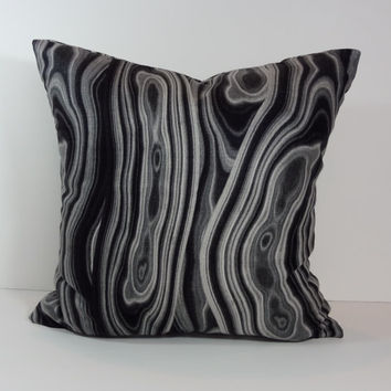 Black Onyx Decorative Pillow Cover, Robert Allen at Home, Cushion Cover, 18 x 18